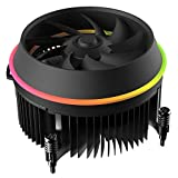 DarkFlash Shadow Socket Intel LGA 115X 4-Pin Connector CPU Cooler Copper Core Base & Aluminum Heatsink & 3.93 Inch RGB LED Light Cooling Fan