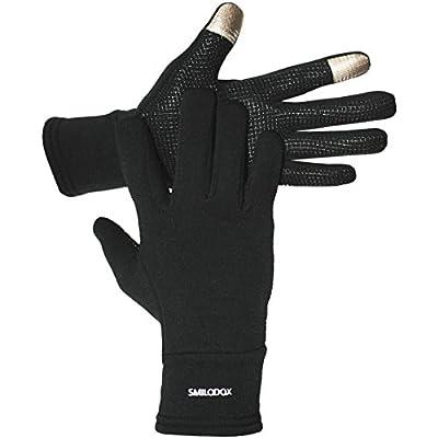 SMILODOX Touchscreen Softshell Handschuhe für iPhone 5 4S 4 Samsung S3 iPad Smartphone Handy Touch Gloves