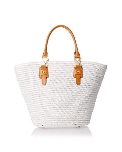 Carmen Marc Valvo Women's Crochet Tote, White