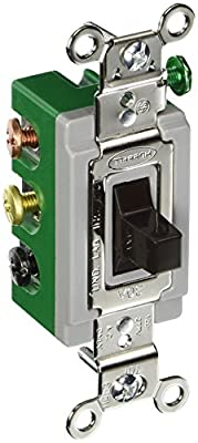 Hubbell HBL1388 Toggle, Double Pole Double Throw, Center Off, 30 amp, 120/277V, Brown from Hubbell