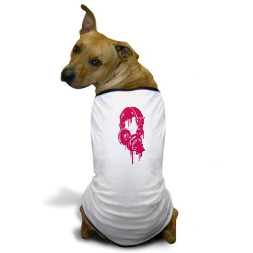 Cafepress Pink Dj Headphones Dog T-Shirt - 3Xl White [Misc.]