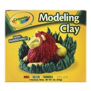 6 Pack MODELCLAY 16oz RED/BLU/YEL/GRN Drafting, Engineering, Art (General Catalog)