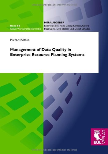 Management of Data Quality in Enterprise Resource Planning Systems