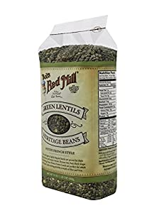 Bob's Red Mill French Green Lentils, 24-Ounce Packages (Pack of 4)