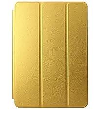 Delite Premium Flip Case cover for Apple iPad MINI 1/2/3 Tablet (Gold) (Sleep/Wake)