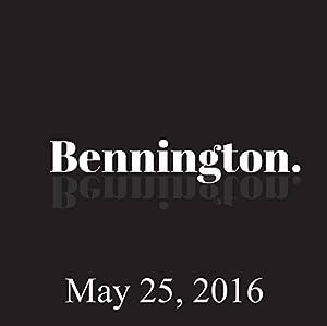 Bennington, May 25, 2016 Radio/TV Program