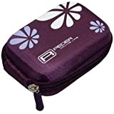 Hardcase Kameratasche lila für die Canon PowerShot SX260 / SX270 / SX280 HS + telstar® Displayschutzfolie
