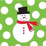 Creative Converting 100 Count Snowman Dots Beverage Napkins