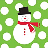 Creative Converting 100 Count Snowman Dots Beverage Napkins