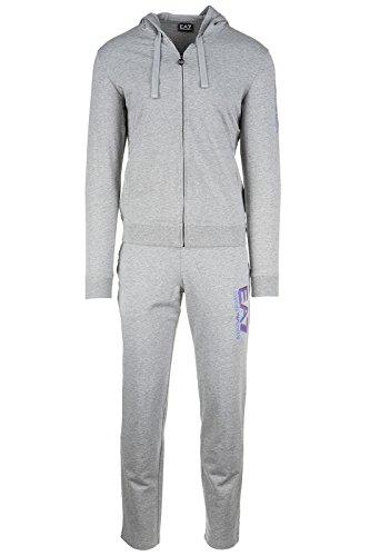 Emporio Armani EA7 tuta uomo fashion completo felpa pantaloni grigio EU M (UK 38) 6XPM65 PJ05Z 3905