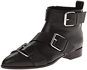 Giuseppe Zanotti Women's Triple Buckle Chelsea Boot,Thunder Nero,5.5 M US