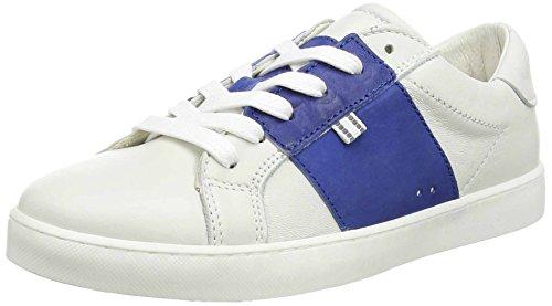 Belmondo-Stivaletti donna 38019/M, Blue, Bianco (Weiß (bianco marino)), EU 37
