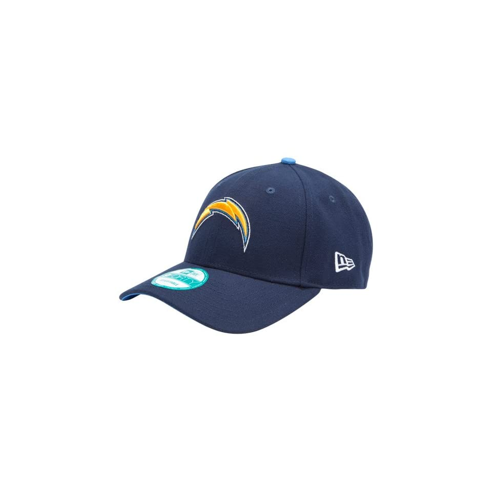 NFL New Era San Diego Chargers The League 9FORTY Adjustable Hat   Navy Blue Sports & Outdoors