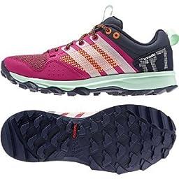adidas Outdoor Kanadia 7 Trail Running Shoe - Women\'s Bold Pink/Chalk White/Solar Orange 7.5