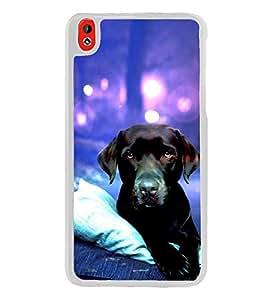 Dog 2D Hard Polycarbonate Designer Back Case Cover for HTC Desire 816 :: HTC Desire 816 Dual Sim :: HTC Desire 816G Dual Sim