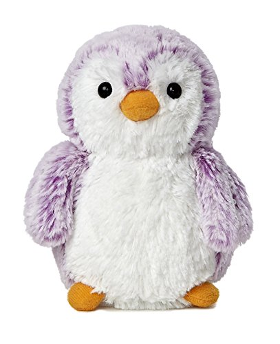 Aurora World Pom Pom Penguin Bright Violet Plush, 6""