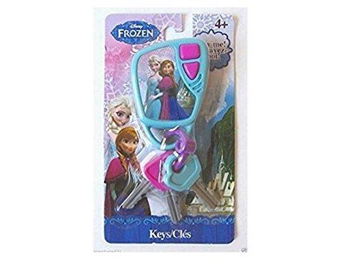 Disney Frozen Keys Set Kids Pretend Play Toy Key Ring Anna Elsa W Sound - 1