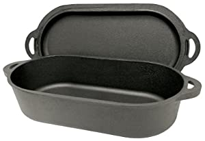Bayou Classic 7475 Oval Fryer with Griddle Lid, 6-Quart by Bayou Classic