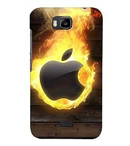 PRINTSHOPPII APPLE FIRE LOGO Back Case Cover for Huawei Honor Bee::Huawei Y5C