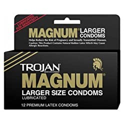 Trojan Condoms Trojan Magnum Large Size 3 Pack Condoms