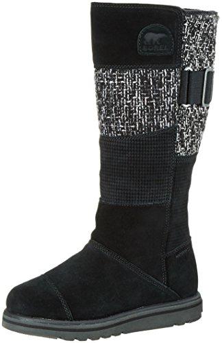 Sorel NL2366 - Stivali Alti Mocassini Donna, colore Nero (Black 010), taglia 37.5 EU