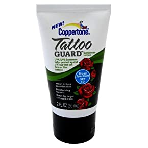 Coppertone tattoo guard sunscreen lotion spf 50 2013 for Best sunblock for tattoos