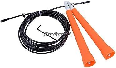 28M Durable Steel Wire Rope Skip Skipping Adjustable Jump Ropes Crossfit - Orange