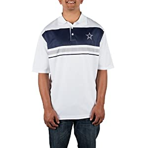 Dallas Cowboys Mens Purpose Stripe Polo by Dallas Cowboys