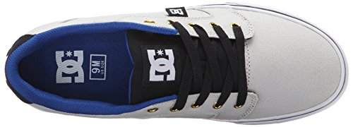 DC Men's Anvil TX Skate Shoe, Grey/Black, 10.5 M US