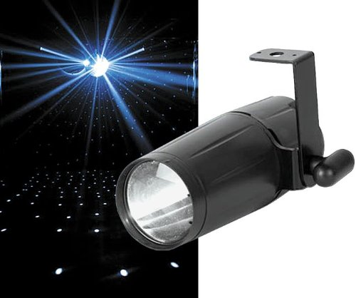 New American Dj | High-Performance Bright 3-Watt White Led Pin Spot, Pin Spot Led With Hanging Bracket, 90/240V Switchable Power Supply, And 12-Degree Beam Angle