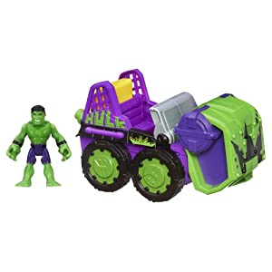 Marvel Super Hero Adventures Playskool Heroes Smash Mobile With Hulk - Colors May Vary