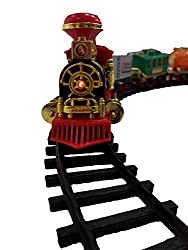 Kids Toy Train Emits Real Smoke Light Sound Track Set Battery Operated Choochoo Classical