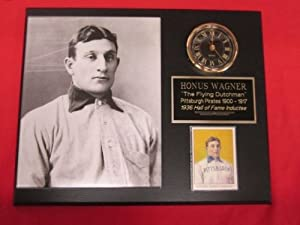 J&C Baseball Clubhouse JC000977 Honus Wagner Pittsburgh Pirates Collectors Clock... by J & C Baseball Clubhouse