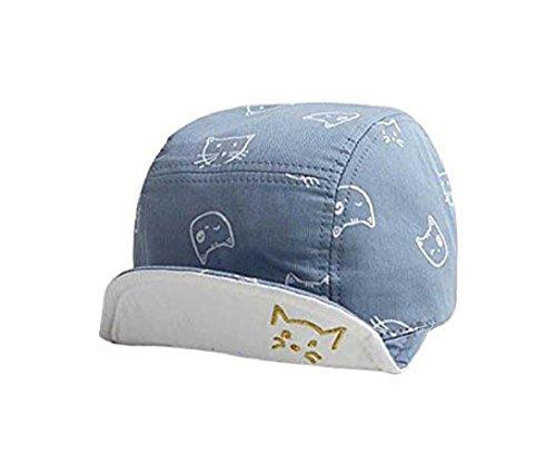 Josie & Connie Unisex Baby boys Novelty Cat Pattern Sun Hat Cotton Baseball Cap (Blue) (Solid Brim Sun Protection Hat compare prices)