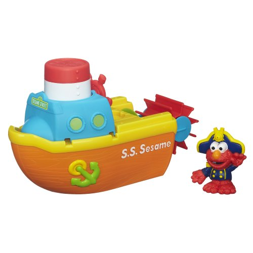 Playskool Sesame Street Elmo Bath Adventure Steamboat Toy - 1