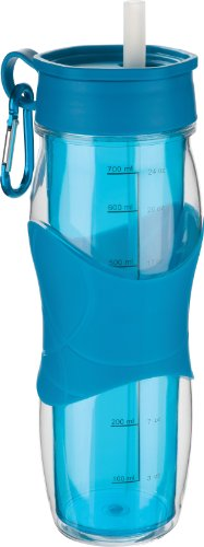 Trudeau Cool Off 24-Ounce Hydration Bottle, Blue