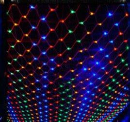 Greatlight Rgb 1.5Mx1.5M 96Led Net String Light Fairy Lamp For Christmas Wedding Garden Decoration 220V Us Plug