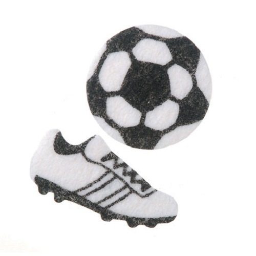 WeGlow International Mini Felt Soccer Ball Stickers (88 Stickers) - 1