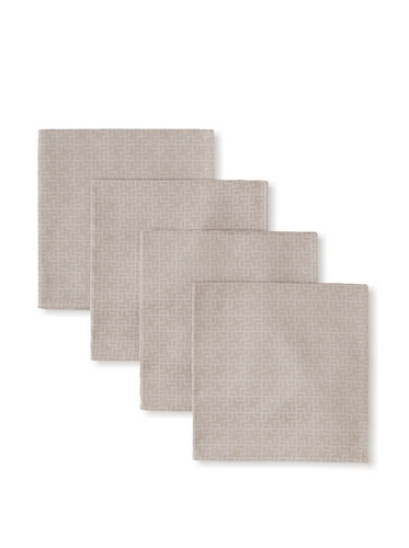 Garnier Thiebaut 26034-S 100-Percent Cotton Puzzle Napkins, 17 by 17-Inch, Beige, 4-Pack