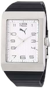 Puma Time Herren-Armbanduhr Oxygen Silver Analog Quarz Silikon PU102761002