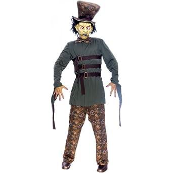Paper Magic Men's Wicked Wonderland Mad Hatter Costume, Green, Medium