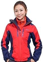 Makino Women39s Warm and Windproof Fleece Hiking Jacket - Orange - XXL