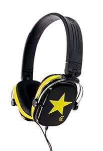 Urbanz STARZ Stylish Fashion Stereo Headphones - Black / Yellow