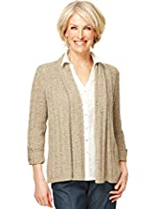 Classic Collection Open Front Tape Knit Cardigan