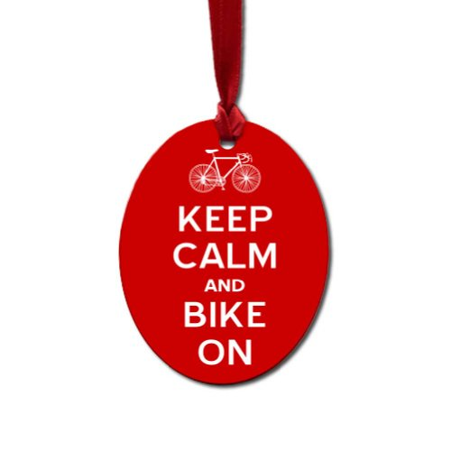 Oval Cycling Ornament