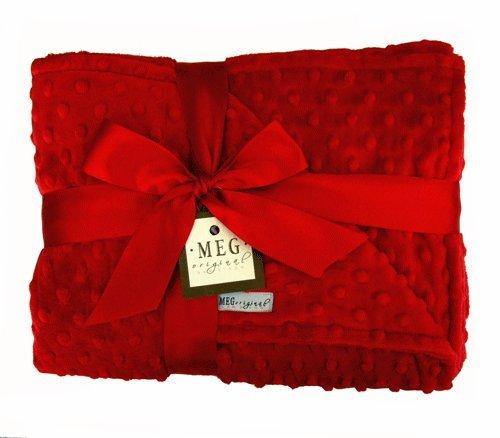 MEG Original Red Minky Dot Baby Crib/Nursery Blanket