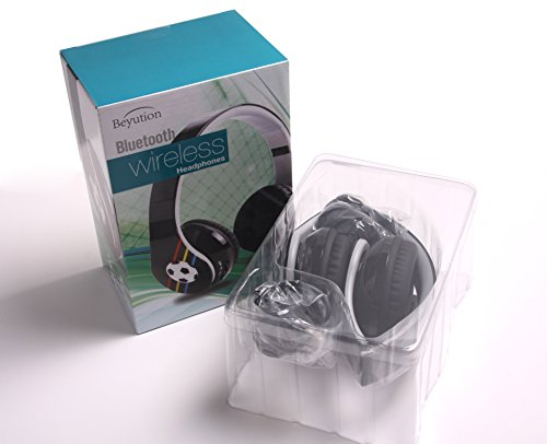 New Over-Ear Beyution@ Bluetooth 4.0 Headphones With Microphone For Mobile Cell Phone Laptop Pc Tablet Which Have Bluetooth Function, With Football Image---Usa Seller