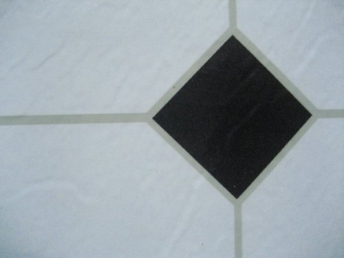 24 x white black diamond self adhesive stick on vinyl. Black Bedroom Furniture Sets. Home Design Ideas