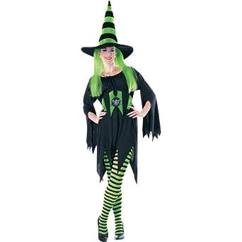 Green/Black Striped Halloween Pantyhose (B601)