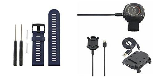 Zhuhaixmy-TPU-Replacement-Watch-Regarder-Band-SmartbandData-Sync-Dock-Charger-Chargeur-for-Garmin-Fenix-3-HRFenix-3-GPS-Sport-Watch-Regarder-Blue-for-Band